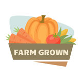 Farm harvest label Stock Photography