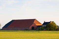 Farm with haze Stock Image