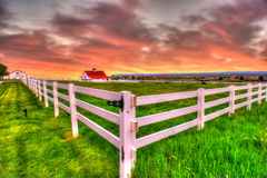 Farm HDR. A horse farm in Broomfield Colorado Royalty Free Stock Images