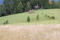 Farm on hill Stock Photography