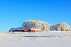 Farm on a hill Stock Photo
