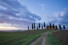 Farm on the hills of Tuscany Stock Image