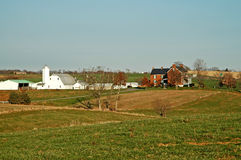 Farm Homestead. Set of farm buildings just outside of Brunswick, Maryland Stock Photo