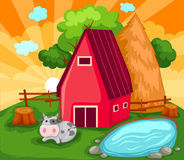 Farm house stock illustration