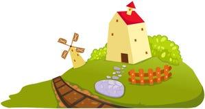 Farm house royalty free illustration