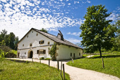 Farm house. Old farm house in the beautiful swiss countryside Royalty Free Stock Image