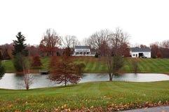 Farm House in Autumn stock photos