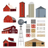 Farm house Building Livestock vector Stock Photography