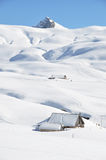 Farm house buried under snow Royalty Free Stock Photography