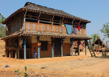 Farm house, central Nepal Stock Photo
