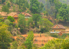 Farm house, central Nepal Stock Photos