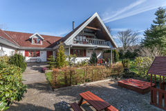 Farm house in denmark Royalty Free Stock Photo