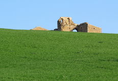 Farm house destroyed. The ruins of an old farm house in the sicilian countryside Stock Images