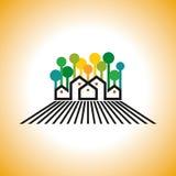Farm house  on farmland Stock Photo