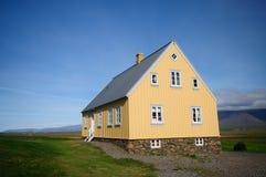 Farm house in Glaumbaer, iceland. Yellow farm house in Glaumbaer, iceland Stock Photo