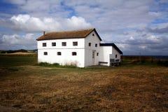 Farm house isolated field Stock Photography