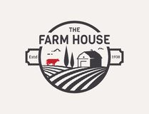 Farm House vector logo. royalty free illustration