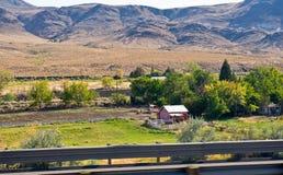 Farm house in Nevada desert Royalty Free Stock Photos