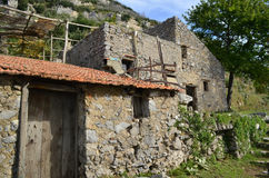 Farm House Out Building on the Path of Gods in Italy Stock Photos