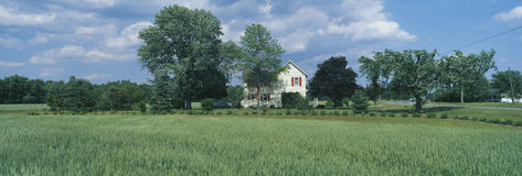 Farm House and Spring Field, Maryland Royalty Free Stock Photos