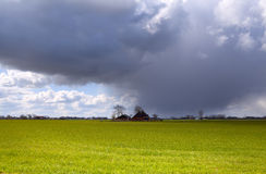 Farm house during storm Royalty Free Stock Photos