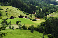 Farm house in the valley Stock Photography