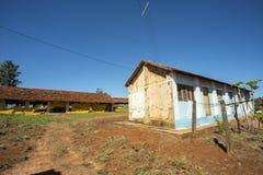 Farm house. Very simple house on a chicken farm. Red earth farm house. Brazil. Farm house. Very simple house on a chicken farm. Red earth farm house. Brazil stock photography