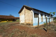 Farm house. Very simple house on a chicken farm. Red earth farm house. Brazil. Farm house. Very simple house on a chicken farm. Red earth farm house. Brazil royalty free stock photography