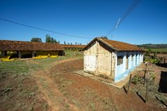 Farm house. Very simple house on a chicken farm. Red earth farm house. Brazil. Farm house. Very simple house on a chicken farm. Red earth farm house. Brazil stock images