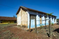 Farm house. Very simple house on a chicken farm. Red earth farm house. Brazil. Farm house. Very simple house on a chicken farm. Red earth farm house. Brazil royalty free stock photos