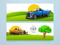 Farm house website header or banner. Royalty Free Stock Image