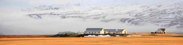 Farm house in winter on Iceland Royalty Free Stock Image