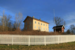 Farm houses. On a fine winter's day. Norway royalty free stock photo