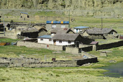 Farm houses in Bolivia mountains Royalty Free Stock Image