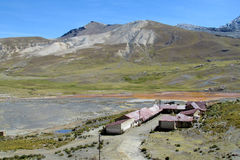 Farm houses in Bolivia mountains Stock Image