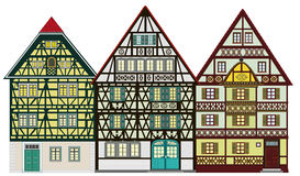 Farm houses, cottages. Traditional houses from the middle-age anywhere in Europe, great for promoting tourism industry. Very decorative, very detailed and Stock Photos