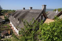 Farm houses at Lake Balaton Stock Photography