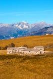 Farm Houses - Lessinia Italy Stock Image