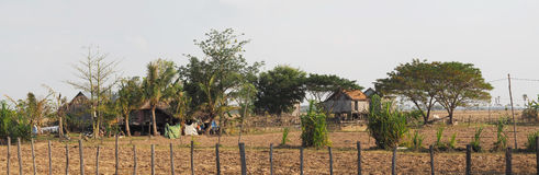Farm Houses - Panoramic View Royalty Free Stock Images