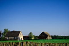 Farm houses in Poland Royalty Free Stock Images