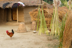 Farm huts in Nepal Royalty Free Stock Photography