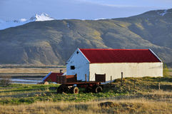 Farm in Iceland on sunset Royalty Free Stock Photo