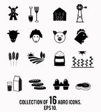 Farm icon collection. Royalty Free Stock Images