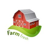 Farm icon Royalty Free Stock Photography