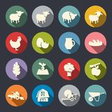 Farm icon set Royalty Free Stock Photo