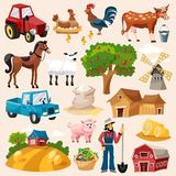 Farm Icon Set Royalty Free Stock Photos
