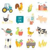Farm icon set. Stock Photo