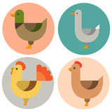 Farm icon vector illustration nature food harvesting grain agriculture different animals characters. Modern flat graphic growth cultivated design Royalty Free Stock Photo