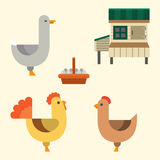 Farm icon vector illustration nature food harvesting grain agriculture different animals characters. Modern flat graphic growth cultivated design Royalty Free Stock Images