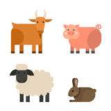 Farm icon vector illustration nature food harvesting grain agriculture different animals characters. Modern flat graphic growth cultivated design Stock Photo